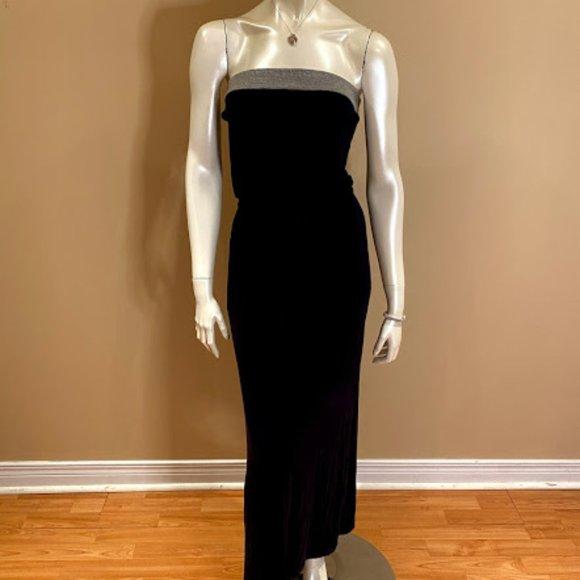 J Crew Navy Blue Strapless Maxi Dress